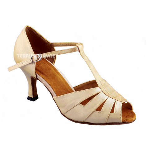 Cream Women Dance Shoes D900