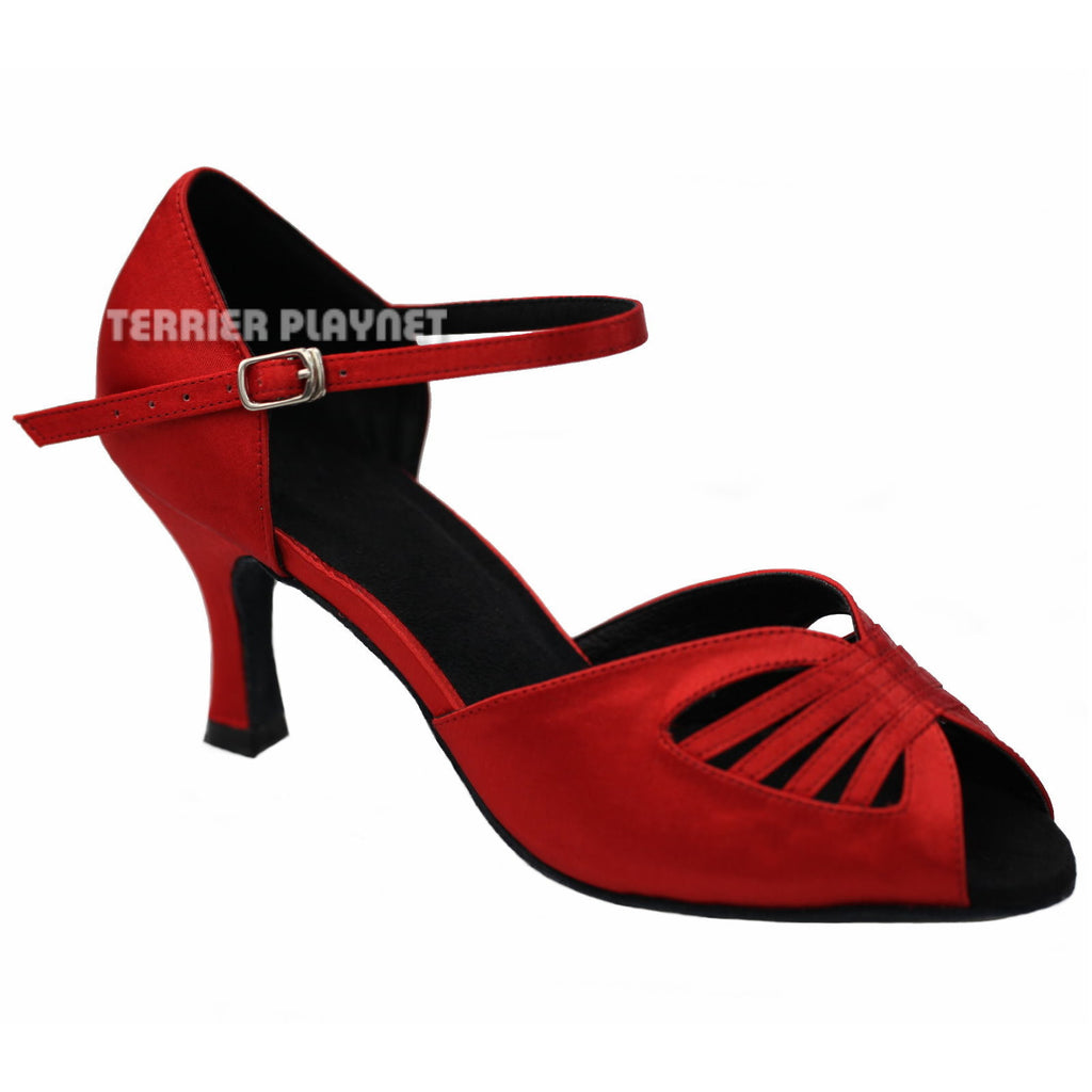 Red Women Dance Shoes D904 - Terrier Playnet Shop
