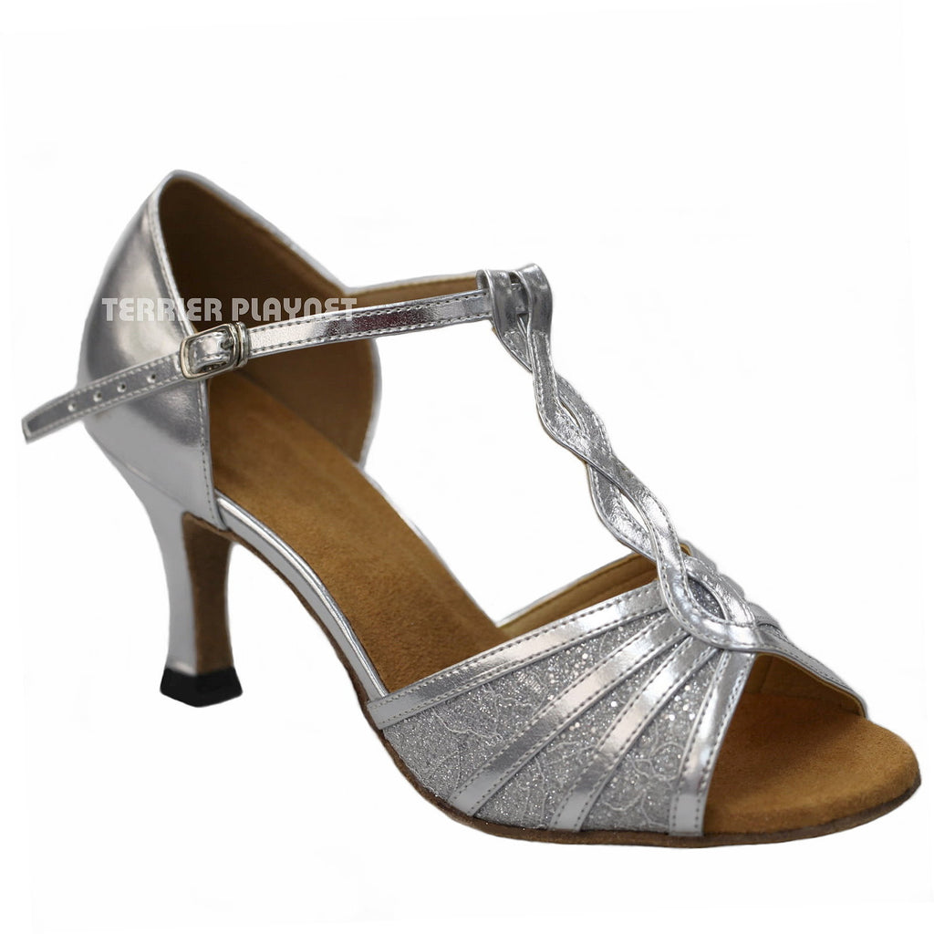 Silver Women Dance Shoes D916