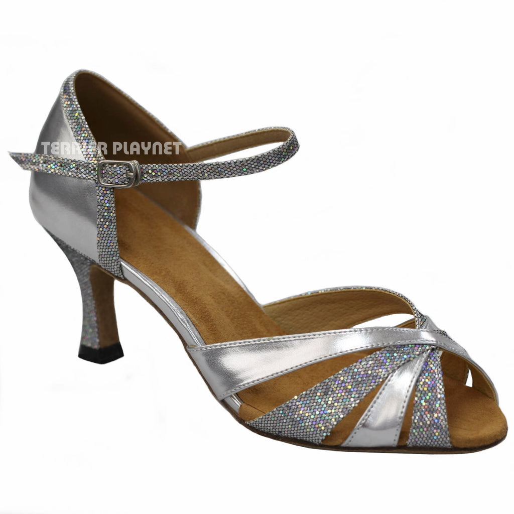 Silver & Glitter Women Dance Shoes D919 - Terrier Playnet Shop