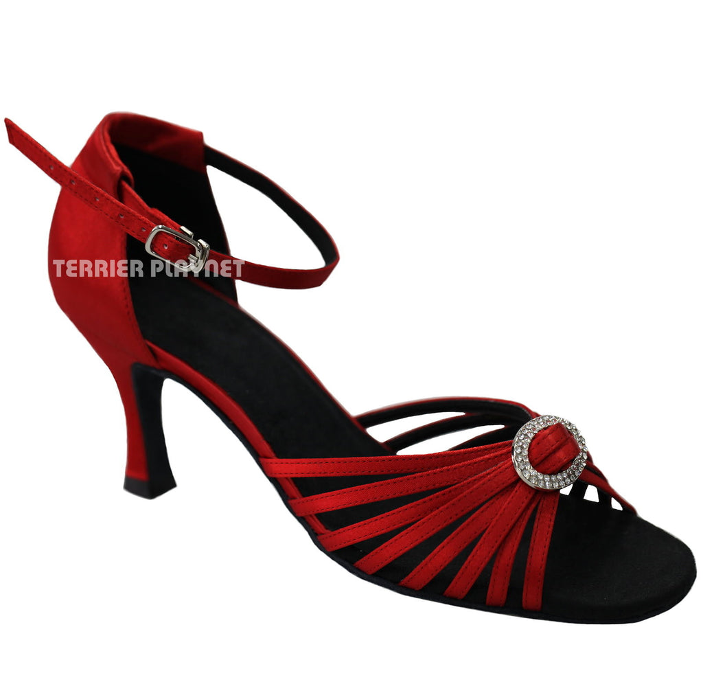Red Women Dance Shoes D937 - Terrier Playnet Shop