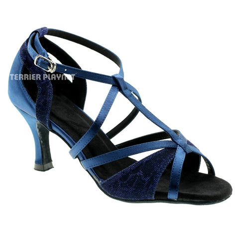 Blue Women Dance Shoes D944