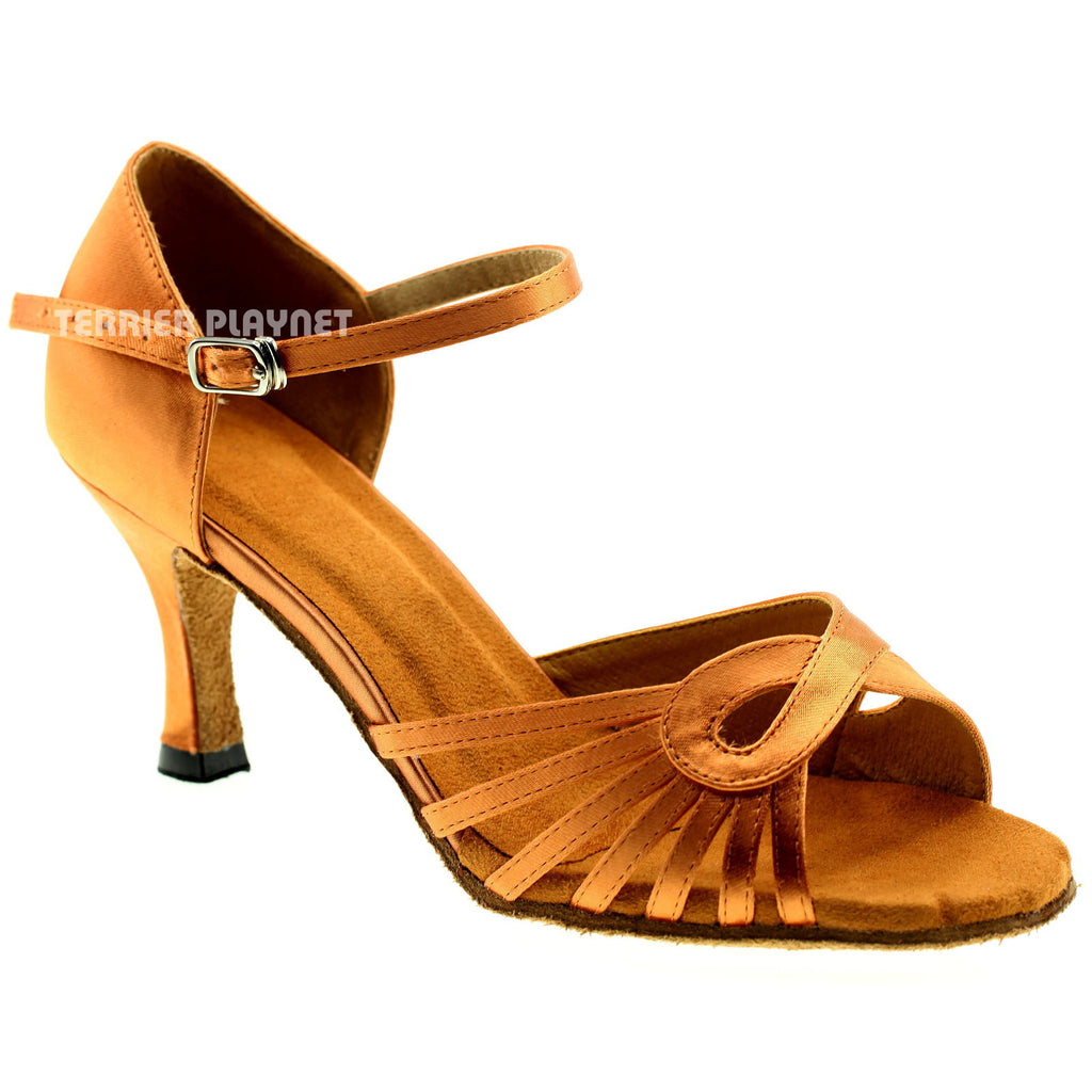 Tan Women Dance Shoes D947
