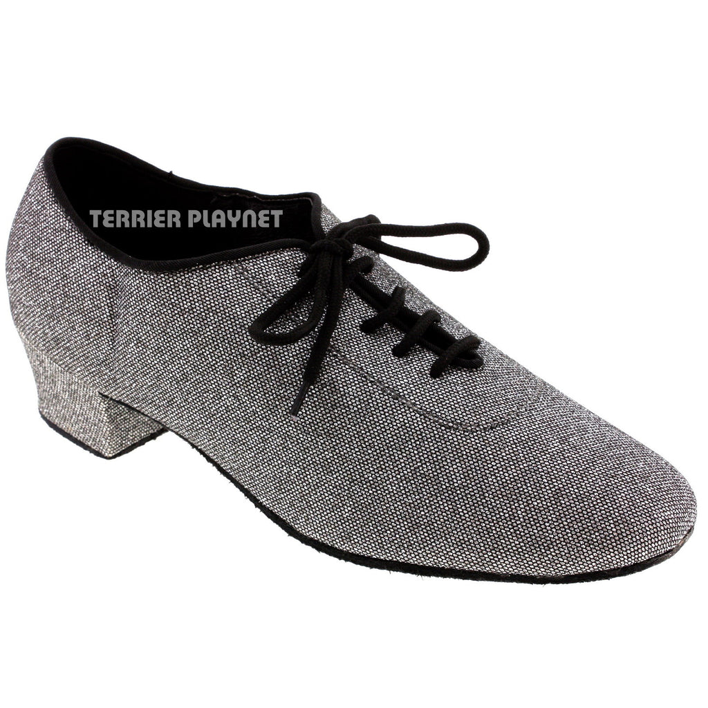 Silver Black Women Dance Shoes D949 - Terrier Playnet Shop