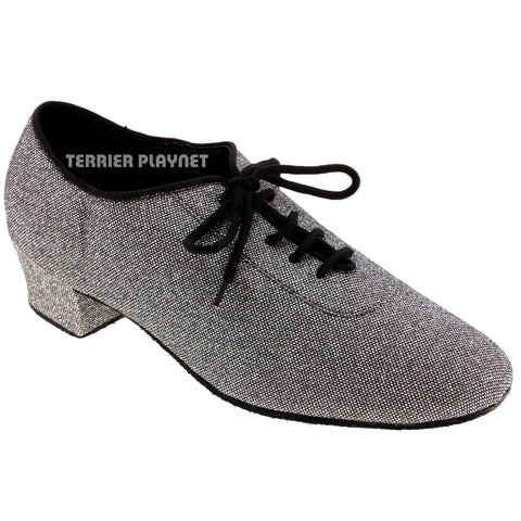 Silver Black Women Dance Shoes D949