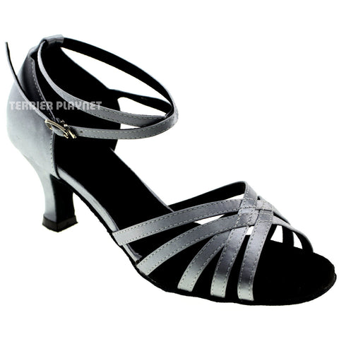 Silver Gray Women Dance Shoes D964