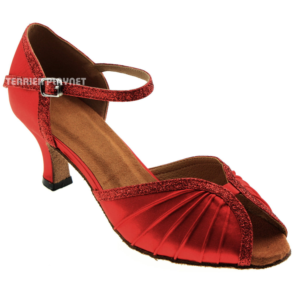 Red Women Dance Shoes D965