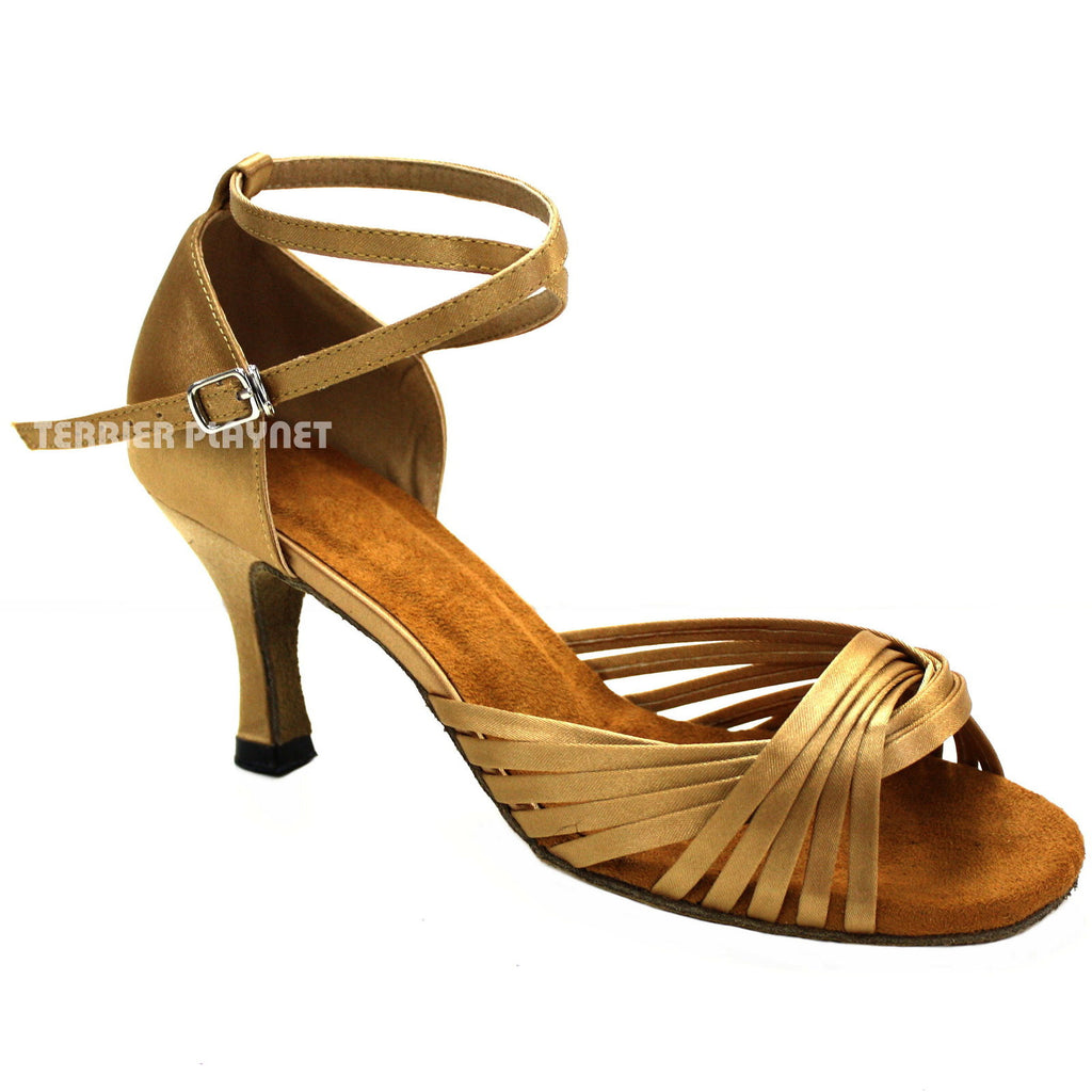 Gold Women Dance Shoes D982