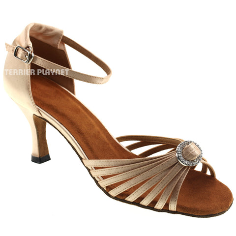 Cream Women Dance Shoes D997