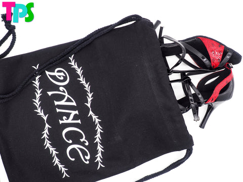 Black Canvas Backpack Shoes Bag SH6