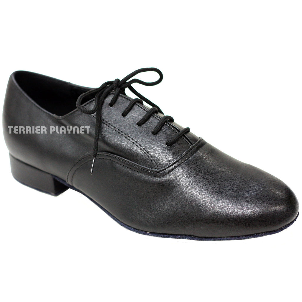 Black Men Dance Shoes M3 UK6.5/US7/EU40 1 Inches/2.5cm Heel - Terrier Playnet Shop
