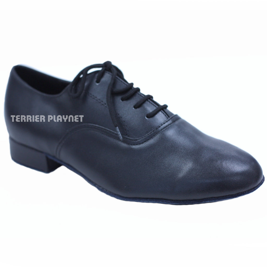 High Quality Black Leather Men Dance Shoes M40 UK8.5/US9/EU42.5 1 Inches/2.5cm Heel