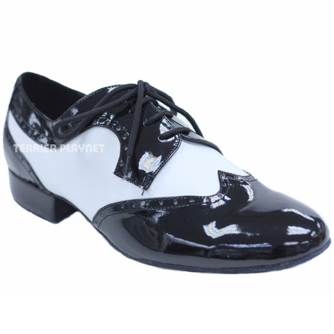 Black & White Men Dance Shoes M41
