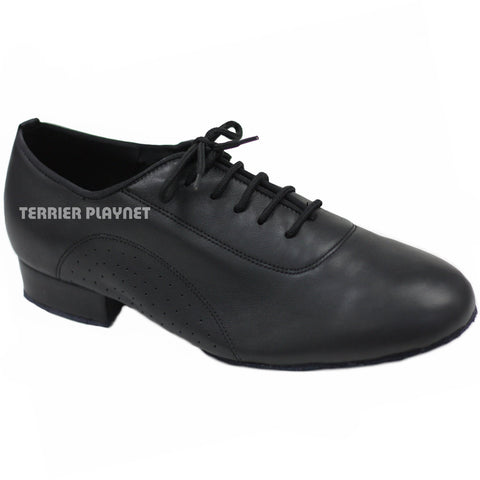 High Quality Black Leather Men Dance Shoes M43