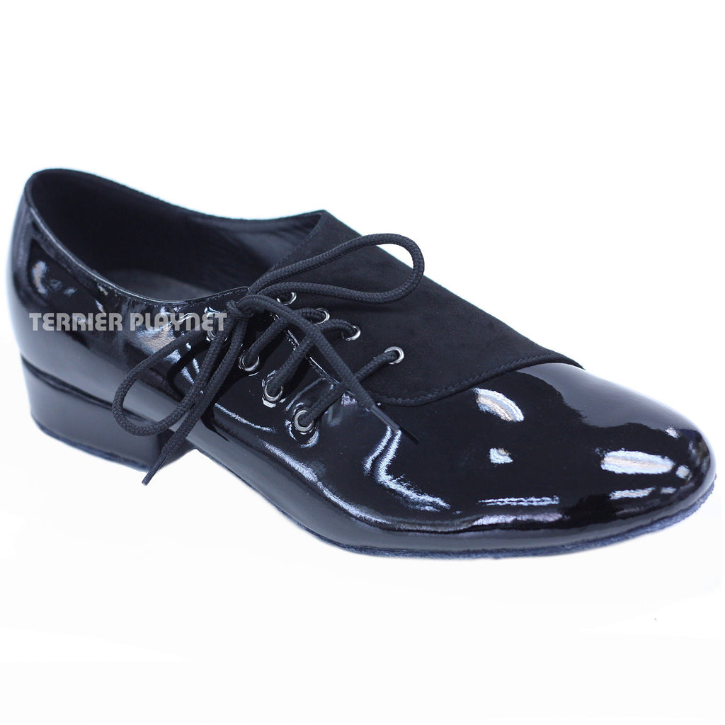 High Quality Black Leather Men Dance Shoes M46
