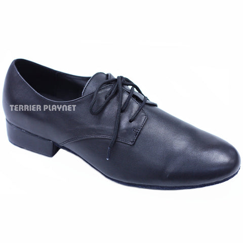 High Quality Black Leather Men Dance Shoes M47 UK7.5/US8/EU41 1 Inches/2.5cm Heel