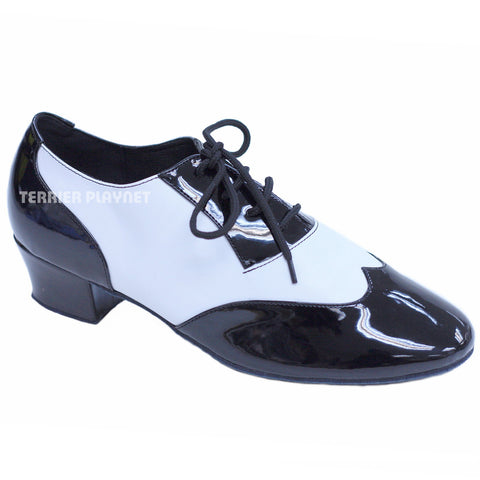 Black & White Men Dance Shoes M54