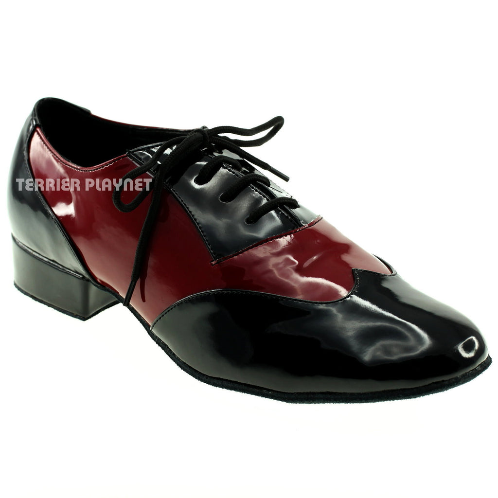 Black & Red Men Dance Shoes M57 - Terrier Playnet Shop