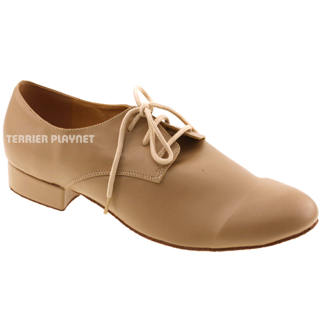Light Brown Men Dance Shoes M69 - Terrier Playnet Shop