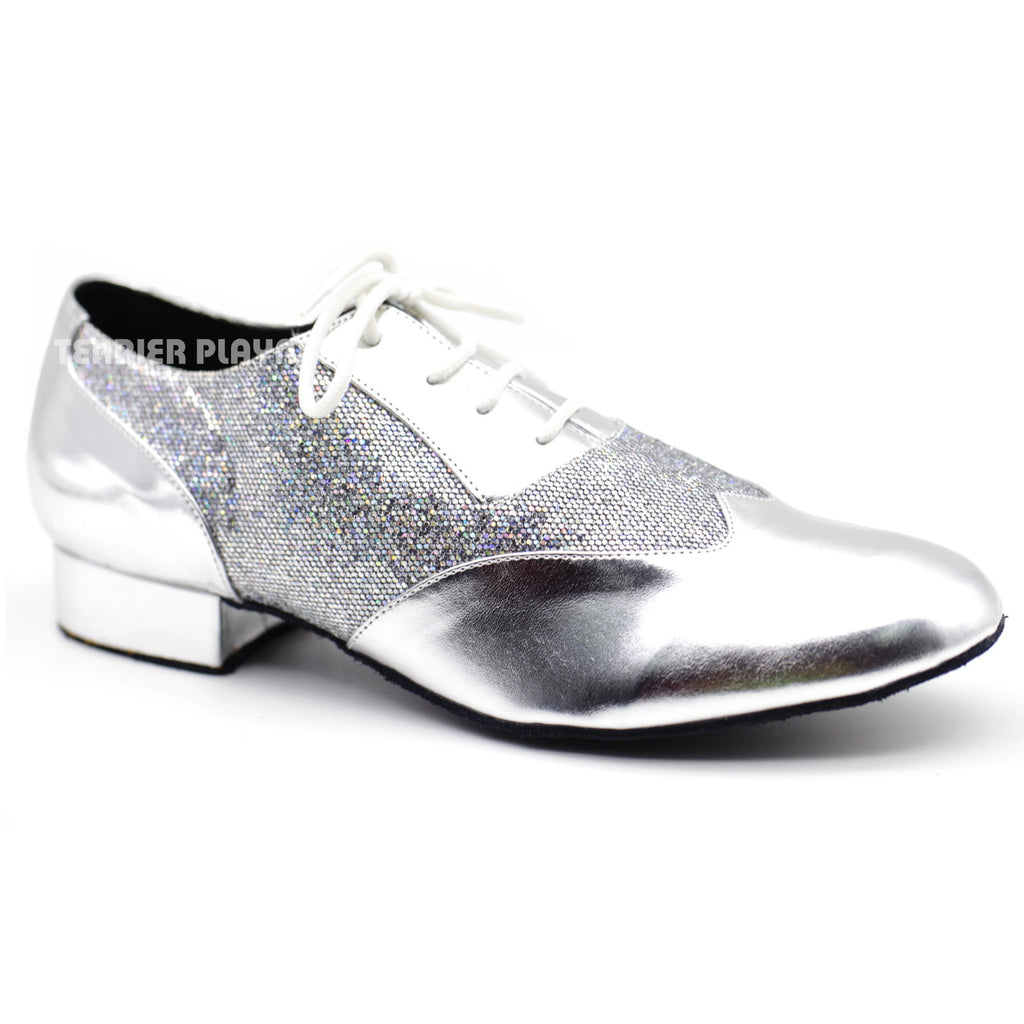 Silver Men Dance Shoes M74 - Terrier Playnet Shop