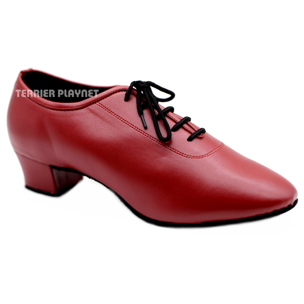 Red Men Dance Shoes M76 UK9/US9.5/EU43 1.5 Inches/3.75cm Heel