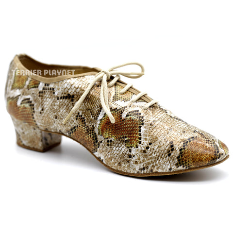 Snake Skin Pattern Men Dance Shoes M77