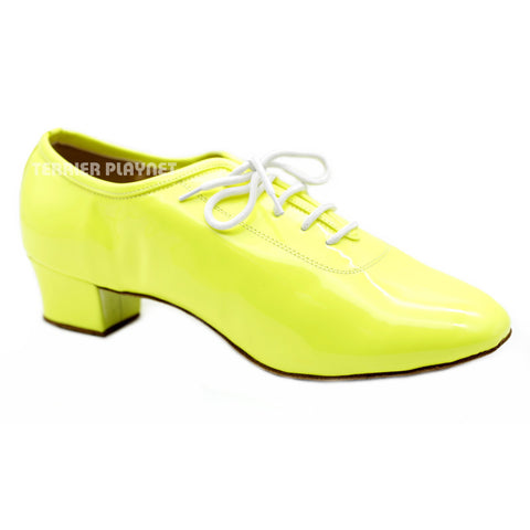Yellow Men Dance Shoes M78 UK9/US9.5/EU43 1.5 Inches/3.75cm Heel