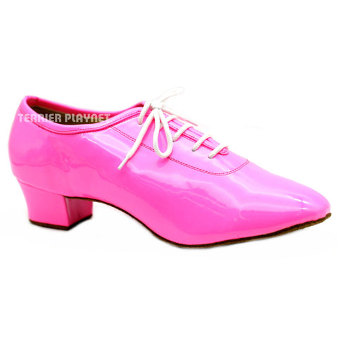 Pink Men Dance Shoes M79 UK9/US9.5/EU43 1.5 Inches/3.75cm Heel