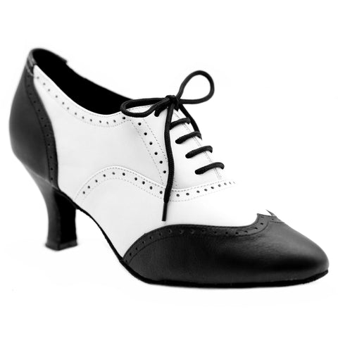Black & White Women Dance Shoes D1156