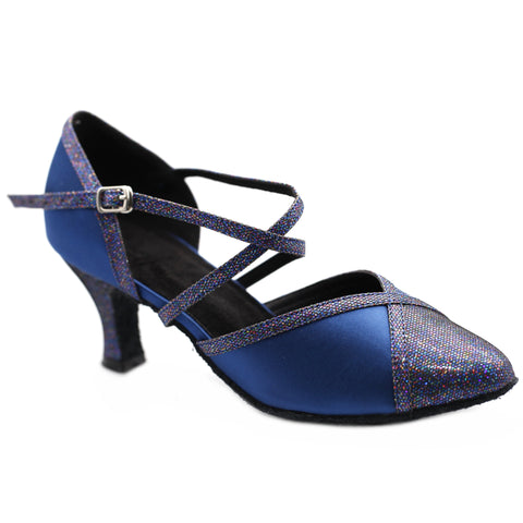 Blue Women Dance Shoes D1187 UK5.5/US8/EU39 2.5 Inches / 6.25cm Heel