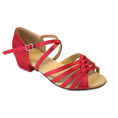 Red Children Dance Shoes D379C