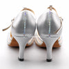 Silver Women Rhinestone Dance Shoes Q159