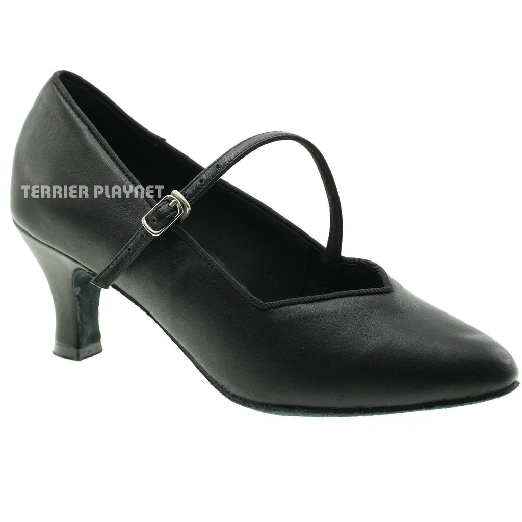 High Quality Black Leather Women Dance Shoes D950