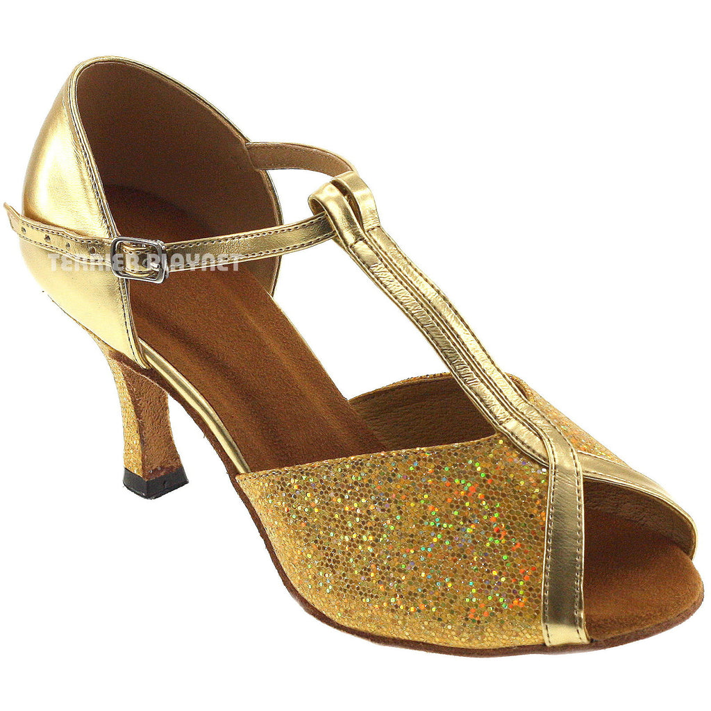 Gold Women Dance Shoes S29