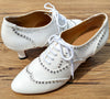 White Swarovski Crystals Women Dance Shoes W014 - Terrier Playnet Shop