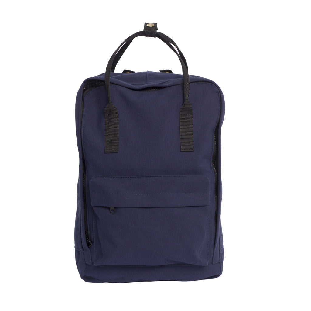 Navy backpack tote - Front