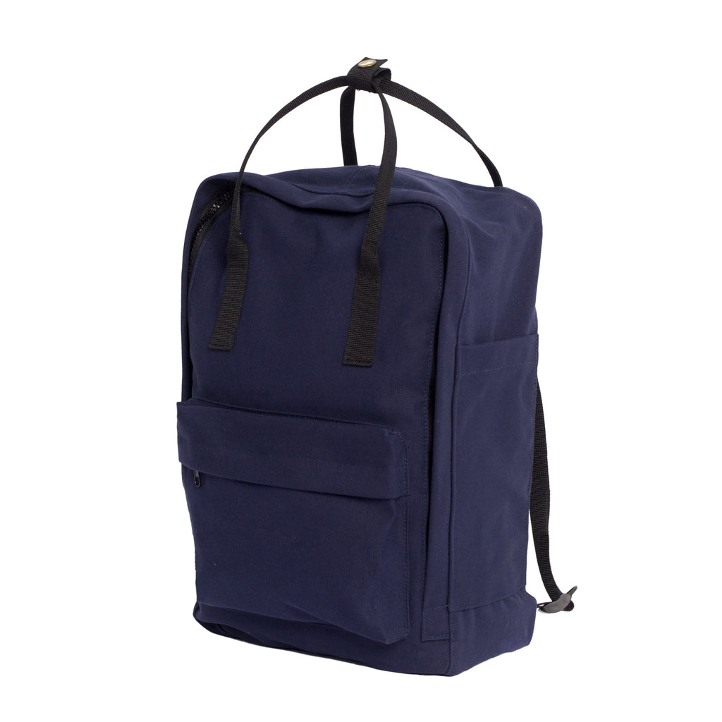 Navy Backpack Tote - Side