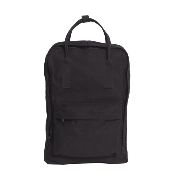 Black backpack tote - Front