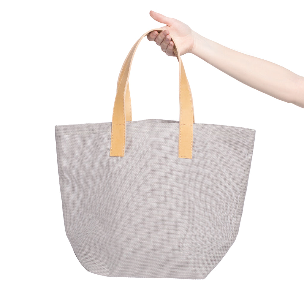 Pogonip Leather Mesh Tote