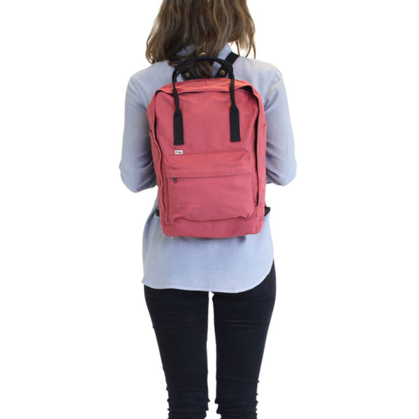 Cotton Backpack Tote - Red