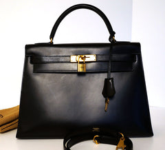 Box Calf Leather Hermes Bag