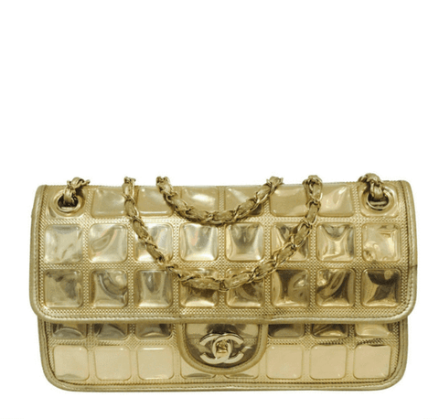 Chanel Ice Cube Bag Gold Metallic Limited Edition