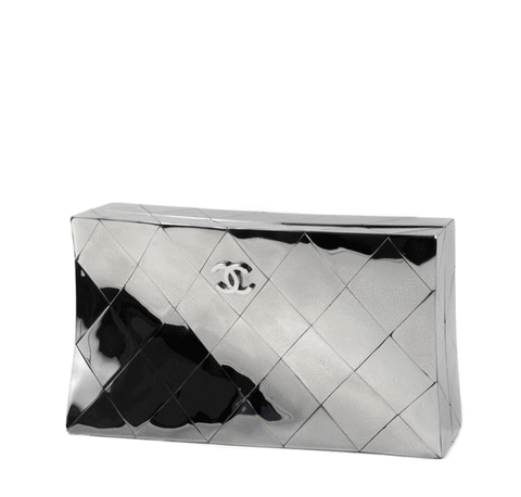 Chanel Twisted Mirror Runway Bag in Silver