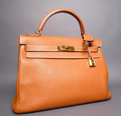 Hermes Kelly Clemence Leather