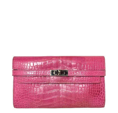 Hermès Kelly Long Wallet Clutch Fuchsia Bag
