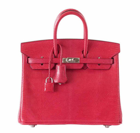 Hermes Birkin 25 Rouge Exotic Lizard