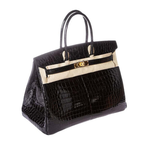 Hermes Birkin 35 Crocodile Black