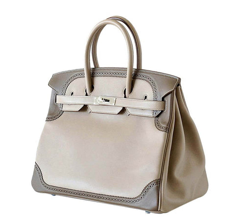 Hermes Birkin 35 Bag Ghillies Limited Edition