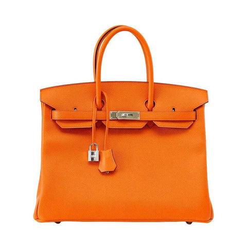 Hermes Birkin 35 H Orange PHW