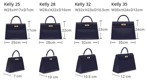 Hermes Kelly Sizes